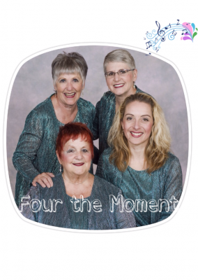 Four the Moment in oval frame
